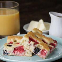 Strawberry Shortcake Sheet Pan Pancakes by Tasty