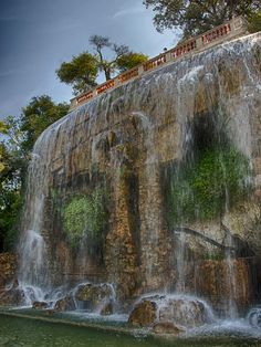 Castle Hill Waterfall - Nice, France.