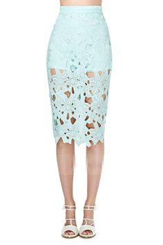 Ladies Skirt //Price: $35.82 & FREE Shipping //     Sale Depot http://saledepot.biz/product/vagary-spring-elegant-ladies-work-wear-business-skirts-women-slim-pencil-knee-length-lace-skirt-mint-green-crochet-pencil-skirt/    #deals