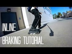Inline Skating: How To Brake On Inline Skates Tutorial / 3 City Skating Stops (Narrated) - YouTube