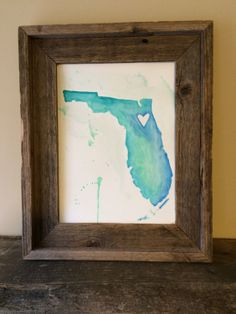 9X12 watercolor painting of Florida in by SpeckledFeatherGoods, $20.00