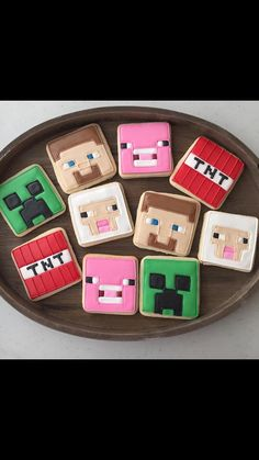 Minecraft Cookies 1 dozen by MJCookiesConfections on Etsy Minecraft Birthday Party, 6th Birthday Parties, 7th Birthday, Birthday Ideas, Minecraft Cookies, Trunk Or Treat, Cupcake Cakes, Cupcakes, School Fun