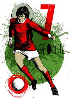 George Best football print George Best football by TheIndoorType❤️