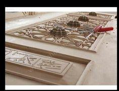 Carving wood door.Turkey