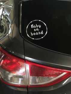 A personal favorite from my Etsy shop https://www.etsy.com/listing/470181767/baby-on-board-decal