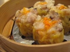 pork dumplings- could be good with ground chicken and minced veggies!
