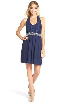 Speechless Bow Back Lace Halter Dress available at #Nordstrom