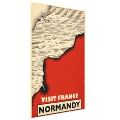 Vintage travel To Normandy France Canvas Print - retro gifts style cyo diy special idea