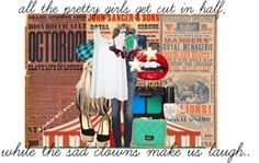 """""""I want to throw down with the clowns I meet..."""" by juliebear06 ❤ liked on Polyvore"""