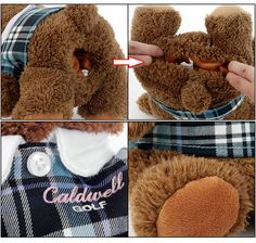 Custom made plush Animals teddy bear golf club headcovers