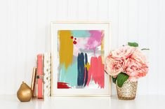 Abstract Printable Art Print #5 8x10 (can be printed up to 16x20) Modern Abstract art in gorgeous colors make this a welcome addition anywhere in