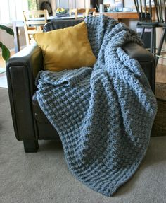 The Hubbie Nubbie      This pattern makes a nice sized afghan perfect for snuggling in front of the TV or outdoors by the fires...