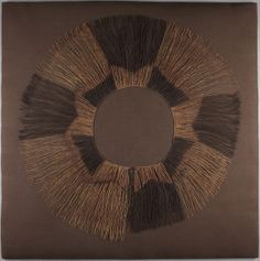 Ngala artist Place made: Democratic Republic of the Congo Skirt, early 20th century Raffia palm fiber, resist dye 69 x 68 cm