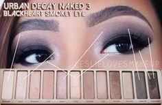 Leslie Loves Makeup!: Urban Decay Naked 3 Blackheart Smokey Look