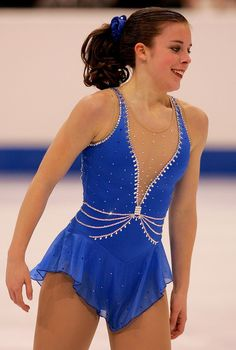 Ashley Wagner -Blue Figure Skating / Ice Skating dress inspiration for Sk8 Gr8 Designs.
