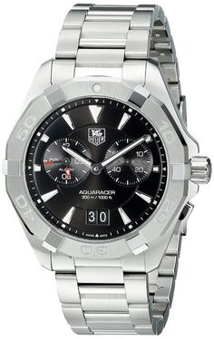 Men watches : TAG Heuer Men's WAY111Z.BA0910 Analog Display Quartz Silver Watch