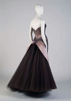 "1950's ""Butterfly"" ball gown by Charles James. Kent State Museum."