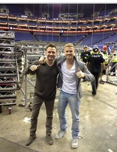 Shane Filan and Nicky Byrne