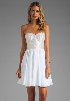 shopstyle.com: ERIN erin fetherston Anabel Dress in White/Multi