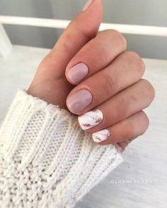 Square Nail Designs, Marble Nail Designs, Short Nail Designs, Nail Polish Designs, Gel Polish, Nude Nails, White Nails, Gel Nails, Short Square Nails