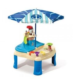 Your kids can go on their own high-seas sailing adventure right in the backyard! This sand and water table is great for multi-child play and has a ton of features that will keep your kids busy for hours on a hot summer day.