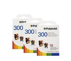 (3 Pack of Polaroid 300 Film PIF-300) 30 Prints