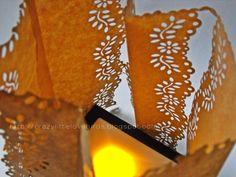 Diy paper lamp shade  #DIY #create #light http://crazylittlelovebirds.blogspot.com