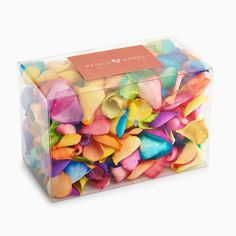 Our freeze dried Rainbow rose petals are the perfect choice as biodegradable confetti. They are also ideal to fill confetti cones, sprinkle on paths and aisles or as a complement to your wedding table decoration. 100% biodegradable confetti*, our Rainbow rose petals keep their colour and retain their natural look and feel. If you are not sure of your wedding colour scheme then why not use our sample service to help you mix and match your petal confetti.