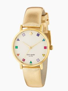 Kate Spade - Gold Patchwork Metro Watch