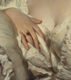 theladyintweed:  Details of Portraits by Franz Xaver Winterhalter