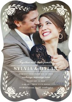 Adorable Wedding Invitation from Wedding Paper Divas #watters #wedding #invitation www.pinterest.com/wattersdesigns/