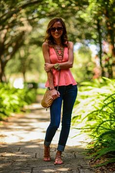 Peplum Top and Skinnies