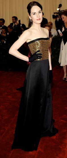 Michelle Dockery (of Downton Abbey)wearing Ralph Lauren.