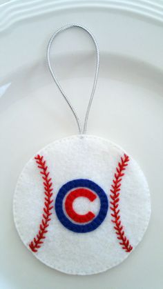 Felt Christmas Ornament – Chicago Cubs Baseball - pinned by pin4etsy.com