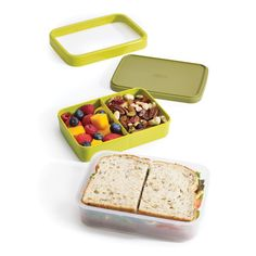 All your #lunch in one handy box with clever compartments. The Joseph Joseph - Space-saving Lunch Box!