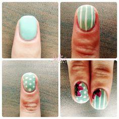 Nails Art Fresas / Mes de la fruta