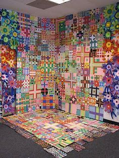 shine brite zamorano: collage art lesson - based upon the quilts of Eleanor McClain.  Very beautiful.