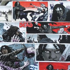 100% Cotton Print The Walking Dead Michonne 45 Inch Wide Fabric by the Yard (F.E.®)