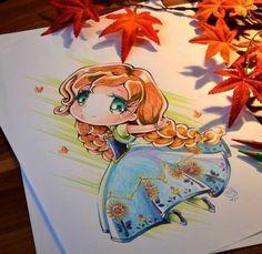 princesas disney tiernas dibujo Lighane-3