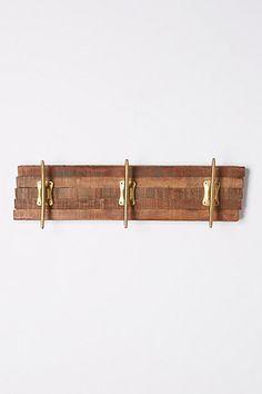NEW Anthropologie Reclaimed Wood hook rack, hat coat rack Coat Hooks On Wall, Wood Hooks, Decorative Wall Hooks, Hook Rack, Brass Hook, Home Hardware, Gifts For Wife, Barn Wood, Decoration