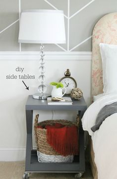 City Farmhouse Rustic Chic Bedroom All On A Budget-DIY  Side Tables