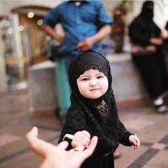 baby, hijab, and islam image Baby Hijab, Girl Hijab, Hijab Bride, Muslim Girls, Muslim Women, Hijabs, Beautiful Babies, Beautiful Children, Beautiful Hijab