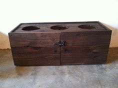 Primitive Dog Feeding Station with cabinet Dog by RusticKnacks
