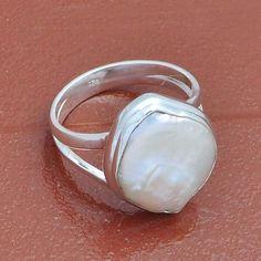 BIWA PEARL 925 SOLID STERLING SILVER  RING 4.65g DJR3935 #Handmade #Ring