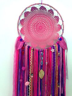 Your place to buy and sell all things handmade Mobiles, Lace Dream Catchers, Crochet Dreamcatcher, Crochet Mandala Pattern, Diy Chandelier, Etsy Crafts, Shabby Vintage, Bohemian Decor, Craft Fairs