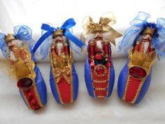 NBB Nutcrackers Dancers Pointe, Pointe Shoes, Toe Shoes, Ballet Shoes, Ballet Crafts, Dance Crafts, Shoe Crafts, Nutcracker Christmas, Christmas Stockings