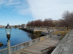 2012 Great Places in America: Neighborhoods - Lower Highlands and Historic Downtown, Fall River, Massachusetts. Recently restored boardwalk along the Taunton River in Fall River's Historic Downtown neighborhood. Photo courtesy James Bartley.