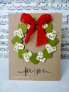 Christmas card - heart punch
