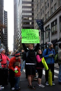 Haha!  I am always grateful for race spectators with funny or motivational signs.