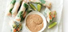Spring Rolls with Almond Satay Sauce | MiNDFOOD